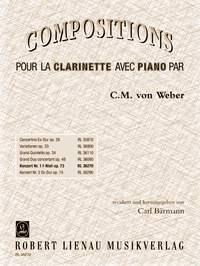 Carl Maria von Weber: Clarinet Concerto No.1 In F Minor Op.73: Clarinet: