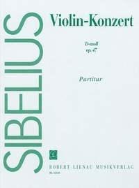 Jean Sibelius: Concerto D Minor Op. 47 - Score: Violin: Score