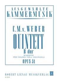 Carl Maria von Weber: Quintett B-Dur op. 34: Chamber Ensemble: Instrumental Work